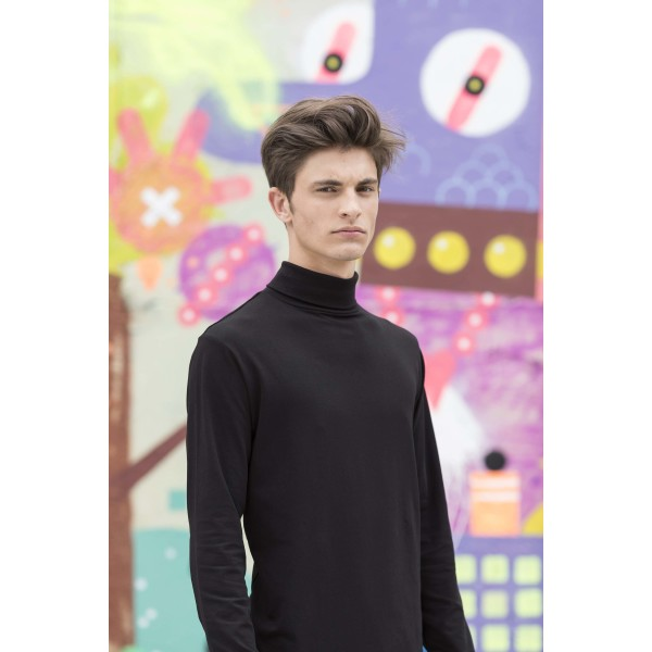 Men's feel good stretch roll neck top