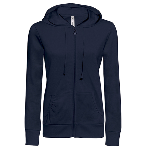Ladies' Hooded Zip Sweat - WW641
