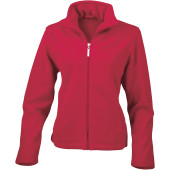 Womens micro fleece jacket red l (14 uk)