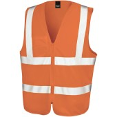 Core zip id safety tabard fluorescent orange s/m