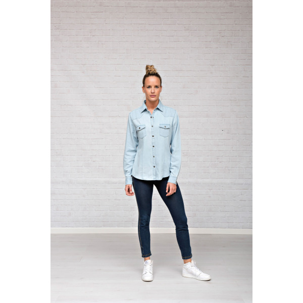 L&S Denim Shirt LS for her