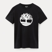 Biologisch t-shirt brand tree black s
