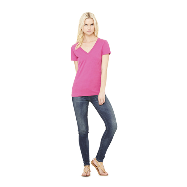Women's Deep V-Neck Jersey T-Shirt