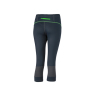 Ladies' Running Tights 3/4 - ijzergrijs/groen