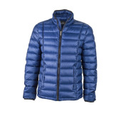 Men's Quilted Down Jacket - inkt/zwart