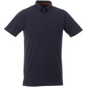 Atkinson button-down heren polo met korte mouwen - Navy - XS