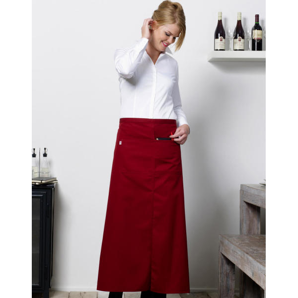 'Berlin' Long Bistro Apron with Vent and Pocket