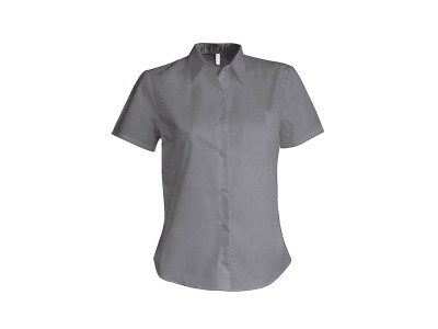Dames oxford blouse korte mouwen