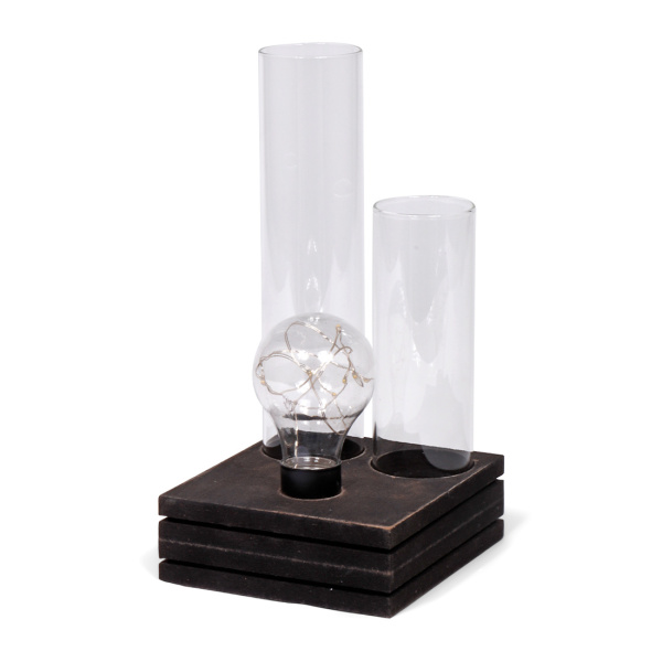SENZA LED Table lamp with two glass vases