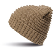 Braided knit hat