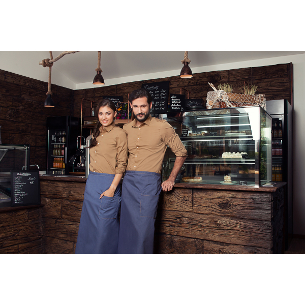 Bistro Apron Jeans-Style with Pocket 105 x 90 cm