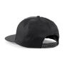 5 Panel Snapback Rapper Cap - Black