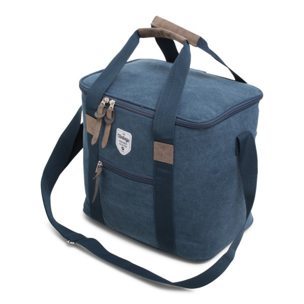 Vintage Canvas Coolerbag Blue