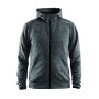 Craft Leisure Full Zip Hood Men dk grey mel. 4xl
