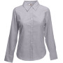 Lady-fit long sleeve oxford shirt (65-002-0) oxford grey l