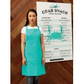 Colours bib apron grey denim one size
