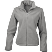Womens micro fleece jacket grey mist l (14 uk)