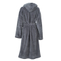 Functional Bath Robe Hooded - carbon
