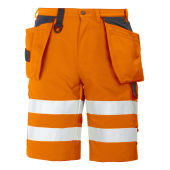 Projob 6503 SHORTS HV ORANGE/BLACK CL.2 C52