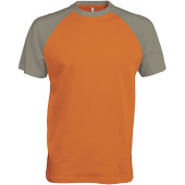 Baseball - tweekleurig t-shirt orange / light grey m