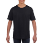 Gildan T-shirt SoftStyle SS for kids Black XS