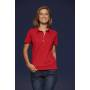 Ladies' Plain Polo rood/donker-denim