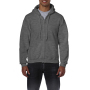 Gildan Sweater Hooded Full Zip HeavyBlend for him Dark Heather S
