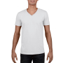 Gildan T-shirt V-Neck SoftStyle SS for him White XXL