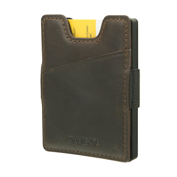 Valenta Card Case Money Strap Brown