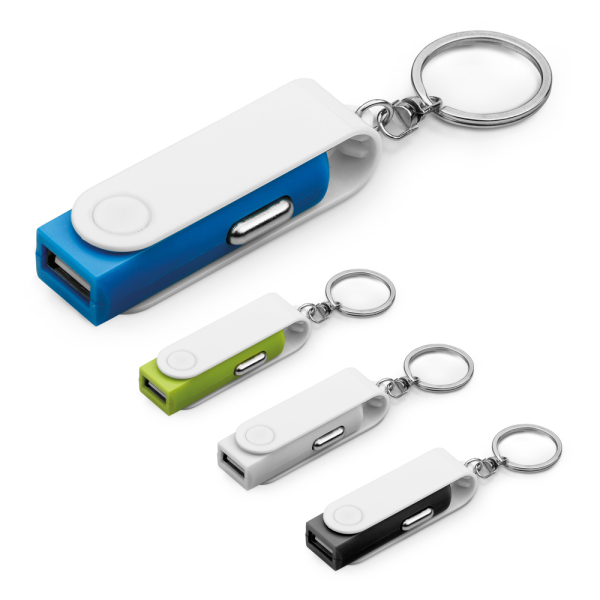 CARTECH. Keyring with car charger