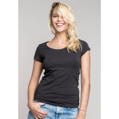 Dames t-shirt met mini-mouwtjes white xs