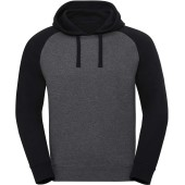 Authentic hooded baseball sweatshirt carbon melange / black xs