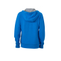 Ladies' Lifestyle Zip-Hoody - kobalt/heather grijs