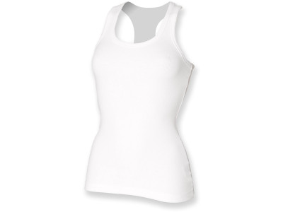 Women's stretch racer-back tank