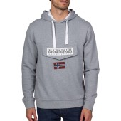 Burgee sum 3 sweater met capuchon medium grey melange s