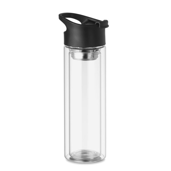 BIELO - Double wall glass bottle 380ml