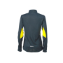 Ladies' Running Shirt - ijzergrijs/citroen