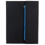 "Portfolio ""ZIPPER, A4, black/blue"