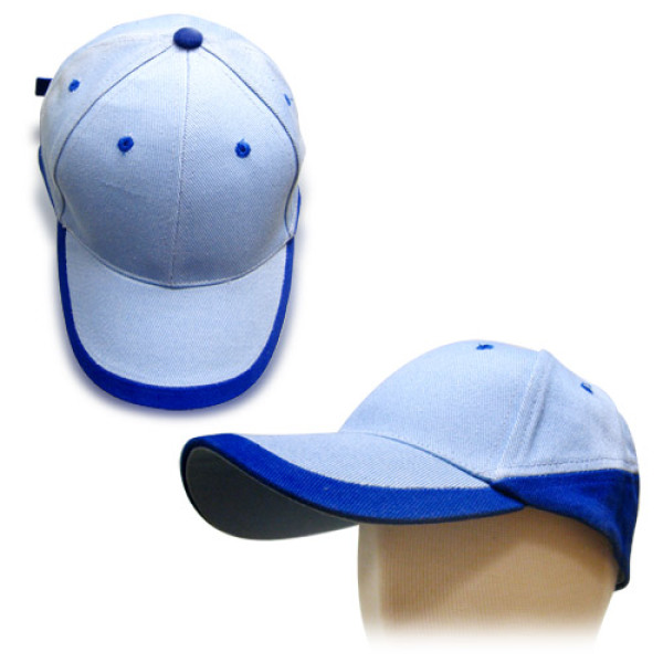 6 Panel Joint-color Cap with Patchy Peak