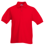 Kids 65/35 Polo, Red, 12-13jr, FOL