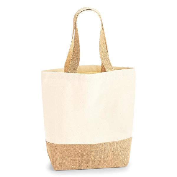 Jute Base Canvas Shopper