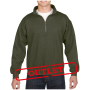Gildan Sweater 1/4 Zip HeavyBlend Moss-35% korting XXXL