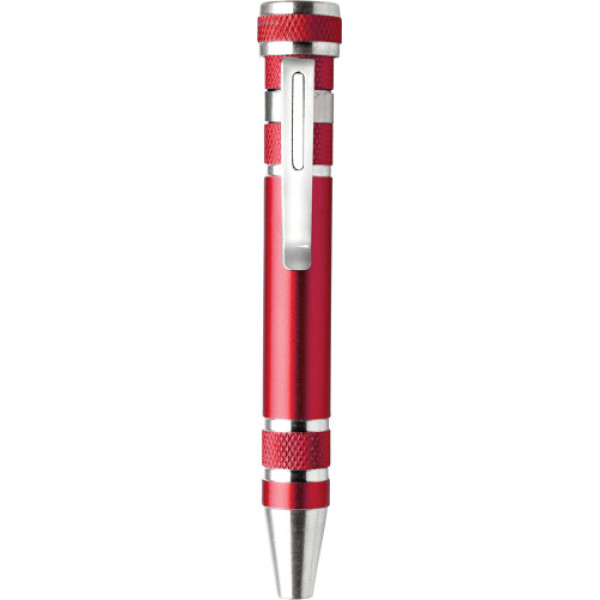 Aluminium pocket screwdriver