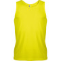 Herensporttop fluorescent yellow s