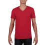 Gildan T-shirt V-Neck SoftStyle SS for him Red M