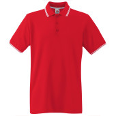 Premium tipped polo shirt (63-032-0) red / white 3xl