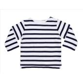 Baby Breton Top, White/Navy, 3-6mnd, MTS