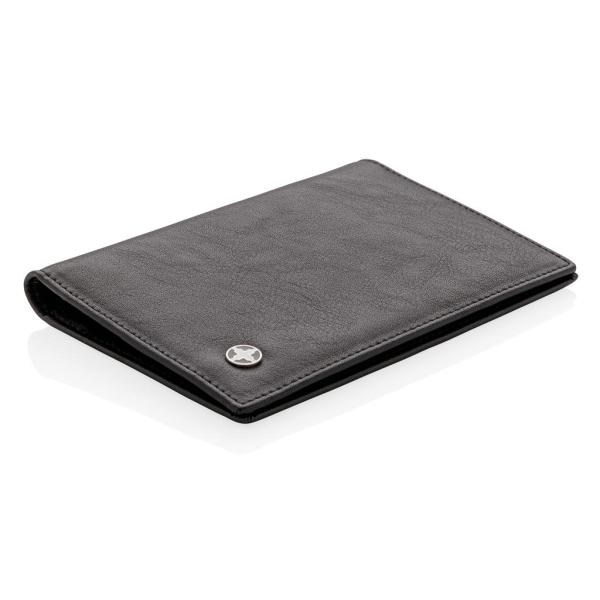 Swiss Peak RFID anti-skimming passport holder, black