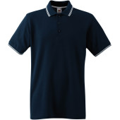 Premium tipped polo shirt (63-032-0) deep navy / white xl