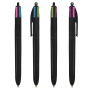 4 Colours Fashion ballpen LP black_UP black_RI black